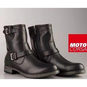 NIB Daniele Bahia black motorcycle boot size 9